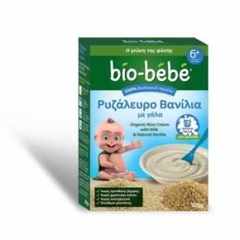 Bio-bebe Ρυζάλευρο Βανίλια με Γάλα 200 gr