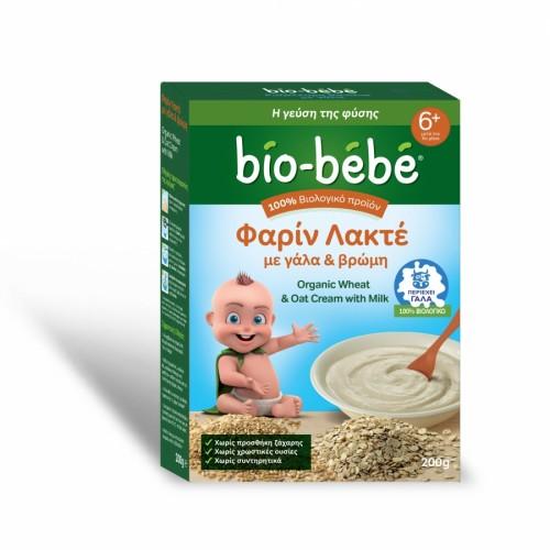 Bio-bebe Φαρίν Λακτέ με Βρώμη και Γάλα 200 gr