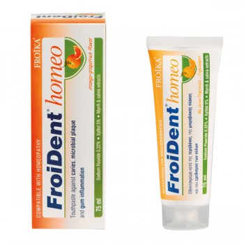 FroiDent Homeo Οδοντόκρεμα Ομοιοπαθητικής Πορτοκάλι-Γκρέυπφρουτ 75 ml