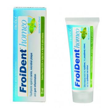 FroiDent Homeo Οδοντόκρεμα Ομοιοπαθητικής Δυόσμος 75 ml Στοματική Υγιεινή