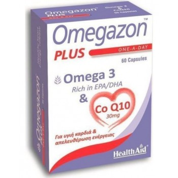 Health Aid Omegazon Plus Ω3 & CO Q10 60 caps