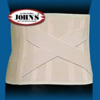 Ζώνη Ορθοπεδική Οσφύος Lombostat με Μπανέλες Αυτοκόλλητη JOHN'S h.22 cm 11200