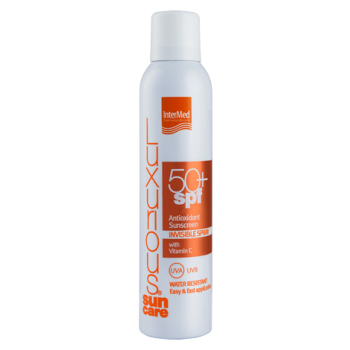 Intermed Luxurious Suncare Antioxidant Sunscreen Invisible Spray SPF 50+ Διάφανο Αντιηλιακό Σπρέυ 200 ml