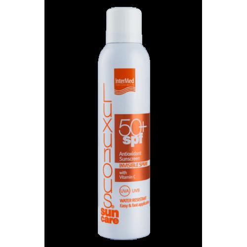 Intermed Luxurious Suncare Antioxidant Sunscreen Invisible Spray SPF 50+ Διάφανο Αντιηλιακό Σπρέυ 200 ml
