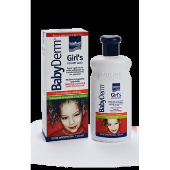 Intermed Babyderm Girl's Intimate Wash Απαλό Υγρό Καθαρισμού της Ευαίσθητης Περιοχής των Κοριτσιών 300 ml