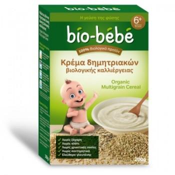 Bio-bebe Κρέμα Δημητριακών Ολικής Άλεσης Βιολογικής Καλλιέργειας 200 gr