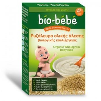 Bio-bebe Ρυζάλευρο Ολικής Άλεσης Βιολογικής Καλλιέργειας 200 gr