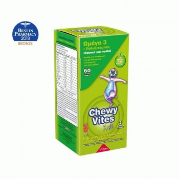 Chewy Vites Jelly Bears Omega 3 + Multivitamin 60 Μασώμενα Ζελεδάκια