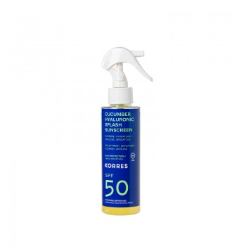 Korres Splash Αγγούρι & Υαλουρονικό Αντηλιακό Σπρέυ SPF50 150 ml