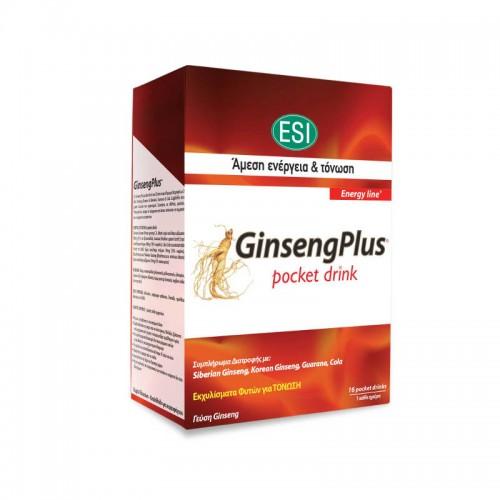 Esi Ginseng Plus Pocket Drink 16 Φακελίσκοι
