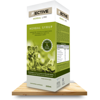 F/Ective Herbal Φυτικό Σιρόπι για Ενήλικες 200ml