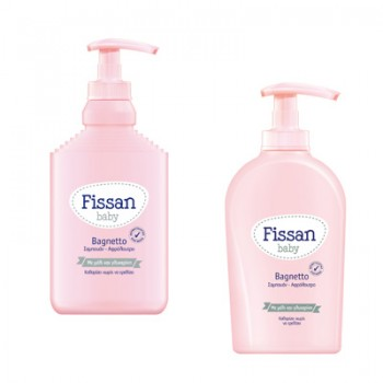 Fissan Baby Bagnetto 500 ml Βρεφικό Αφρόλουτρο και Σαμπουάν με Μέλι & Γλυκερίνη