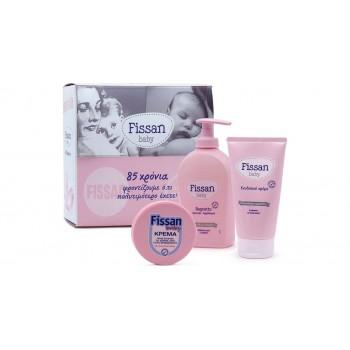 Fissan Baby Bagnetto 300ml + Fissan Ενυδατική Κρέμα 150ml + Fissan Baby Cream 50gr Πακέτο Προσφοράς
