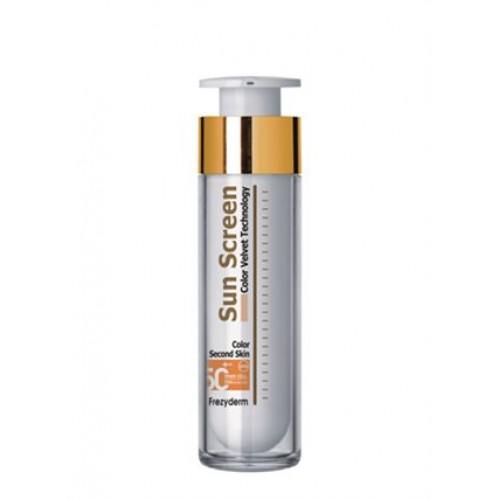 Frezyderm Sun Screen Color Velvet Face Cream SPF 50+ Aντιηλιακή Κρέμα Προσώπου Με Χρώμα 50ml
