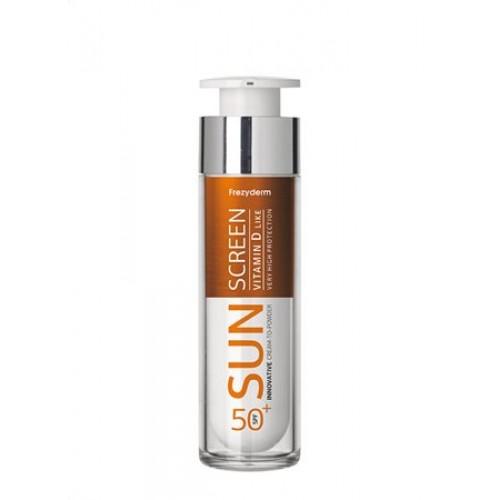 Frezyderm Sun Screen Fluid-to-Powder Υγρή Αντιηλιακή Κρέμα Προσώπου SPF 50+ 50 ml