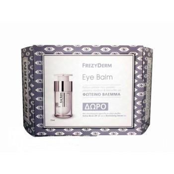 Frezyderm Promo Eye Balm Κρέμα-Ζελ Ματιών Για Μαύρους Κύκλους Και Σακούλες 15ml Και Δώρο Active Block SPF25+ 15ml + Revitalizing serum 5ml Πρόσωπο