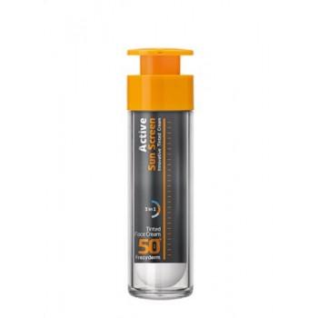 Frezyderm Active Sun Screen Αντιηλιακή Κρέμα Προσώπου με Χρώμα SPF 50+ 50 ml