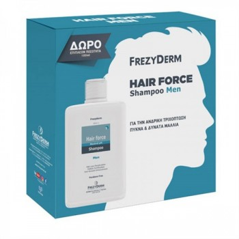 Frezyderm Promo Hair Force Shampoo Men 200 ml + 100 ml Δώρο Σαμπουάν - Conditioner