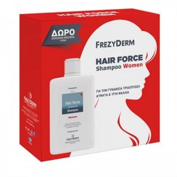 Frezyderm Promo Hair Force Shampoo Women 200 ml + 100 ml Δώρο Σαμπουάν - Conditioner