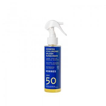 Korres Splash Ginseng & Υαλουρονικό Αντηλιακό Σπρέυ SPF50 150 ml