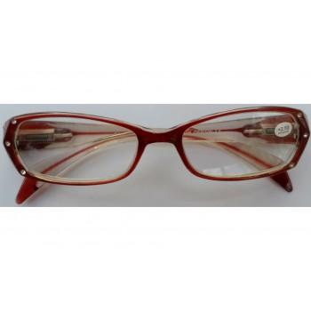Γυαλιά Πρεσβυωπίας R-04 Γυναικεία Κόκκινα με Πέρλες