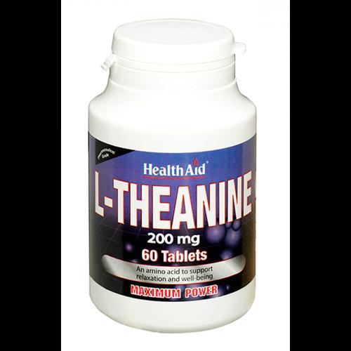 HealthAid L-Theanine 200mg 60 tabs