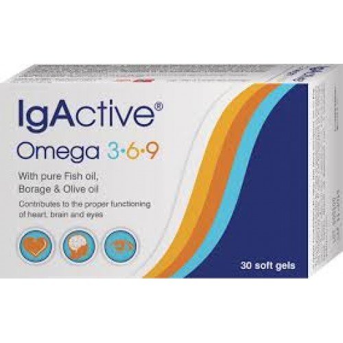 IgActive Omega 3-6-9 30 caps