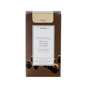 Korres Argan Oil Μόνιμη Βαφή Μαλλιών 10.0 Ξανθό Πλατίνας 50 ml