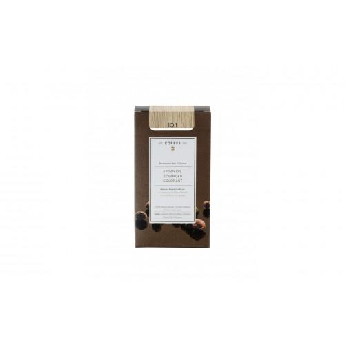 Korres Argan Oil Μόνιμη Βαφή Μαλλιών 10.1 Ξανθό Πλατίνας Σαντρέ 50 ml