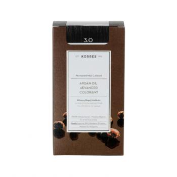 Korres Argan Oil Μόνιμη Βαφή Μαλλιών 3.0 Καστανό Σκούρο 50 ml