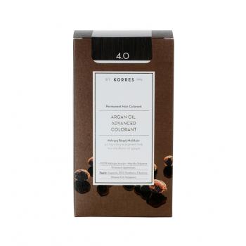 Korres Argan Oil Μόνιμη Βαφή Μαλλιών 4.0 Καστανό 50 ml