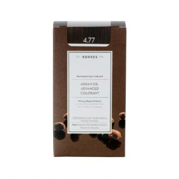 Korres Argan Oil Μόνιμη Βαφή Μαλλιών 4.77 Σκούρο Σοκολατί 50 ml