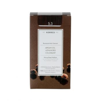 Korres Argan Oil Μόνιμη Βαφή Μαλλιών 5.3 Καστανό Ανοικτό Χρυσό / Μελί 50 ml