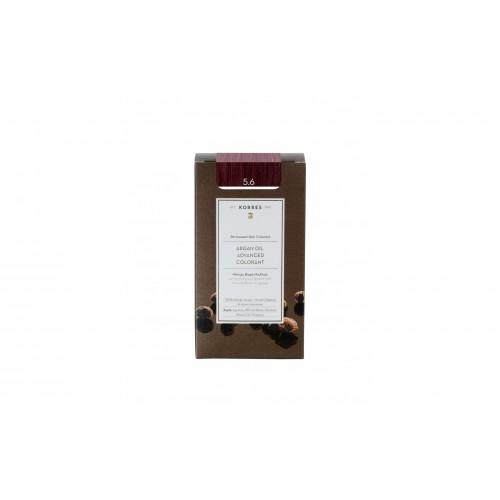 Korres Argan Oil Μόνιμη Βαφή Μαλλιών 5.6 Καστανό Ανοικτό 50 ml