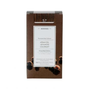 Korres Argan Oil Μόνιμη Βαφή Μαλλιών 5.7 Σοκολατί 50 ml