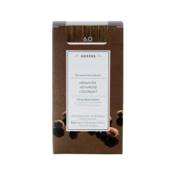 Korres Argan Oil Μόνιμη Βαφή Μαλλιών 6.0 Ξανθό Σκούρο 50 m