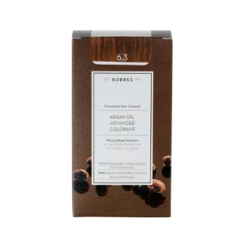 Korres Argan Oil Μόνιμη Βαφή Μαλλιών 6.3 Ξανθό Σκούρο Χρυσό/Μελί 50 ml