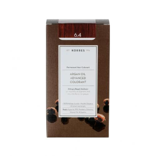Korres Argan Oil Μόνιμη Βαφή Μαλλιών 6.4 Ξανθό Σκούρο Χάλκινο 50 ml