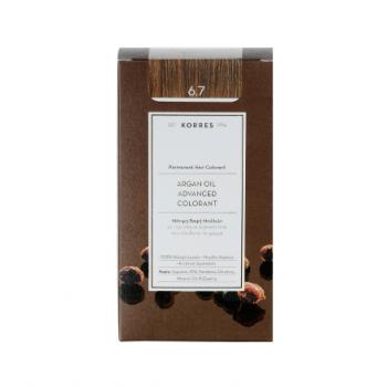 Korres Argan Oil Μόνιμη Βαφή Μαλλιών 6.7 Κακάο 50 ml