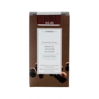 Korres Argan Oil Μόνιμη Βαφή Μαλλιών 66.46 Έντονο Κόκκινο Βουργουνδίας 50 ml