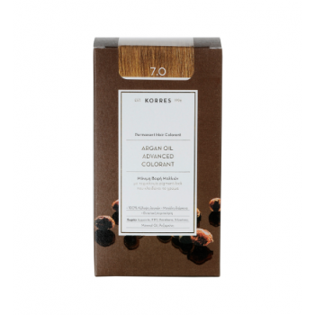 Korres Argan Oil Μόνιμη Βαφή Μαλλιών 7.0 Ξανθό 50 ml