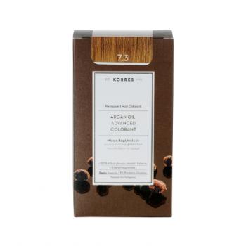 Korres Argan Oil Μόνιμη Βαφή Μαλλιών 7.3 Ξανθό Χρυσό/Μελί 50 ml