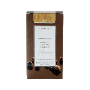 Korres Argan Oil Μόνιμη Βαφή Μαλλιών 8.7 Καραμέλα 50 ml