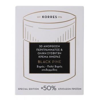 Korres Μαύρη Πεύκη 3D Αντιρυτιδική και Συσφικτική Κρέμα Ημέρας για Ξηρές/Πολύ ξηρές Επιδερμίδες + 50% Επιπλέον Προïόν 60 ml