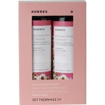 Korres Intimate Area Cleanser Χαμομήλι και Lactic Acid Υγρό Καθαρισμού για την Ευαίσθητη Περιοχή 250 ml 1+1 Δώρο