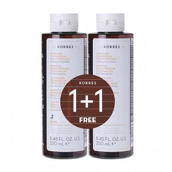 Korres Σαμπουάν Ηλίανθος & Τσάι του Βουνού για Βαμμένα Μαλλιά 1+1 Δώρο 2x250 ml