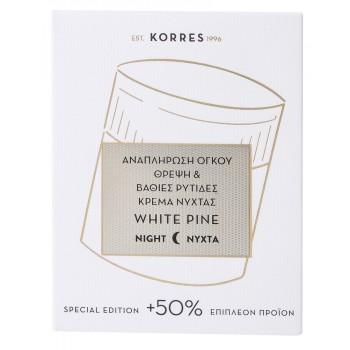 Korres Λευκή Πεύκη Κρέμα Νύκτας + 50% Επιπλέον Προïόν 60 ml