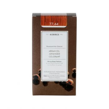 Korres Argan Oil Μόνιμη Βαφή Μαλλιών 77.44 Ξανθό Έντονο Χάλκινο 50 ml