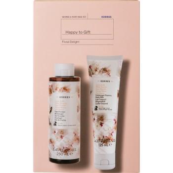 Korres Happy To Gift Floral Delight Σετ Δώρου Λευκά Άνθη Αφρόλουτρο 250 ml + Λευκά Άνθη Γαλάκτωμα σώματος 125 ml