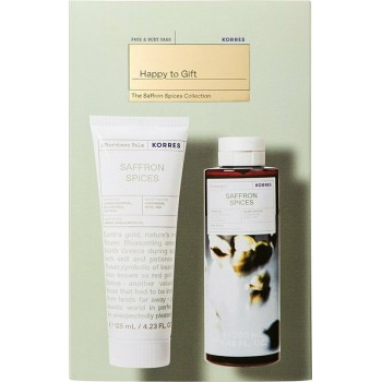Korres Happy To Gift Saffron Spices Collection Σετ Δώρου Αφρόλουτρο 250 ml + Aftershave Balm 125 ml